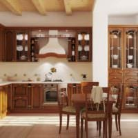 вариант необычного стиля кухни в классическом стиле фото