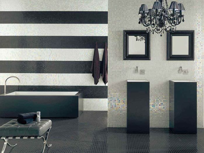 идея красивого стиля укладки плитки в ванной комнате