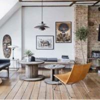 вариант светлого дизайна комнаты в скандинавском стиле картинка