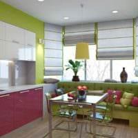 идея светлого дизайна кухни 13 кв.м картинка