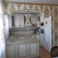 пример необычного дизайна кухни в классическом стиле картинка
