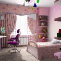 пример необычного стиля детской комнаты для девочки фото