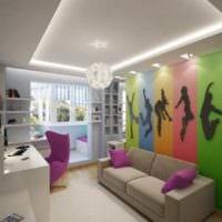 вариант красивого дизайна комнаты 12 кв.м фото