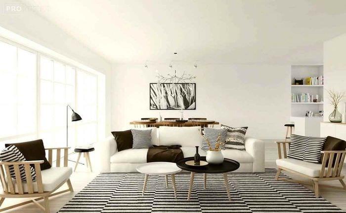 пример использования красивого скандинавского стиля в интерьере