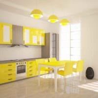 пример применения светлого желтого цвета в дизайне квартиры картинка