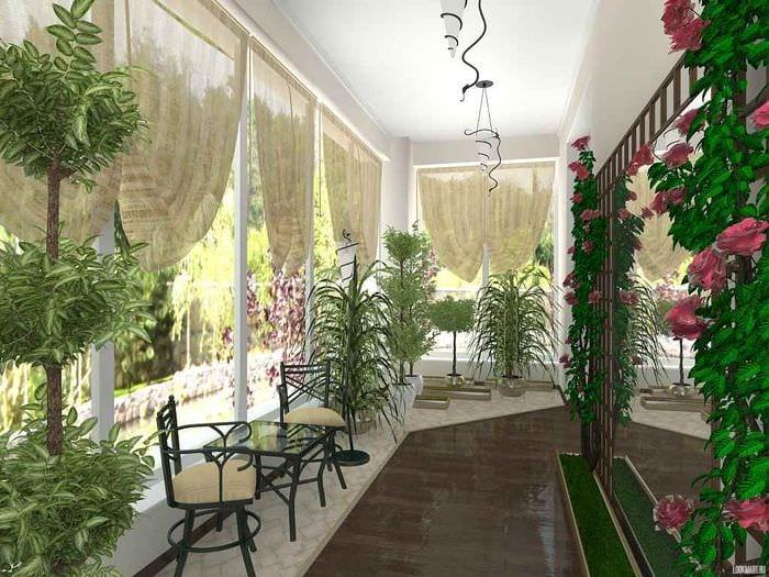 идея применения необычных идей оформления зимнего сада в доме