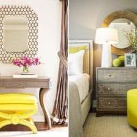 пример использования красивого желтого цвета в дизайне комнаты фото