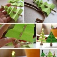 вариант создания яркой елки из картона самостоятельно картинка