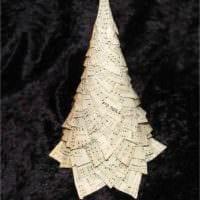 идея создания красивой елки из бумаги своими руками картинка