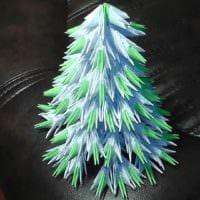 пример создания красивой елки из бумаги самостоятельно фото
