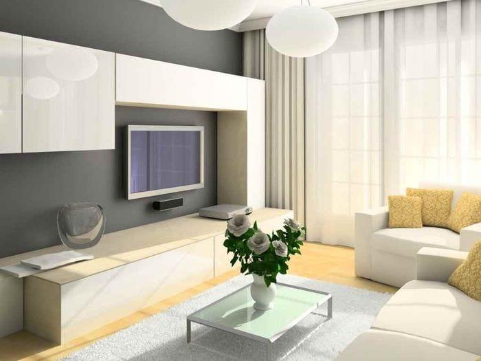идея красивого интерьера гостиной 15 кв.м