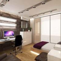пример необычного декора гостиной спальни картинка