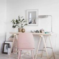 идея красивого интерьера комнаты в скандинавском стиле фото