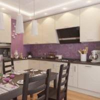вариант светлого интерьера кухни 12 кв.м фото
