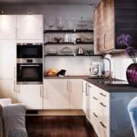 идея необычного интерьера кухни 13 кв.м фото
