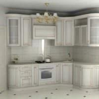 пример необычного декора кухни в классическом стиле картинка