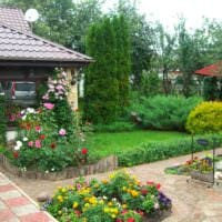 пример необычного дизайна огорода в частном дворе фото