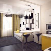 вариант светлого дизайна студии 20 кв.м картинка