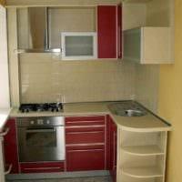 пример красивого стиля кухни с газовой колонкой фото