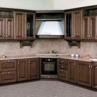 идея красивого интерьера кухни в классическом стиле фото