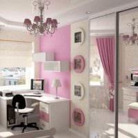 идея светлого дизайна детской комнаты для девочки фото
