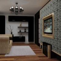 вариант необычного интерьера гостиной 15 кв.м картинка