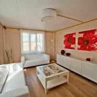 вариант необычного дизайна квартиры в скандинавском стиле картинка