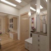 пример красивого дизайна прихожей в частном доме фото