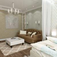 идея яркого стиля гостиной спальни картинка