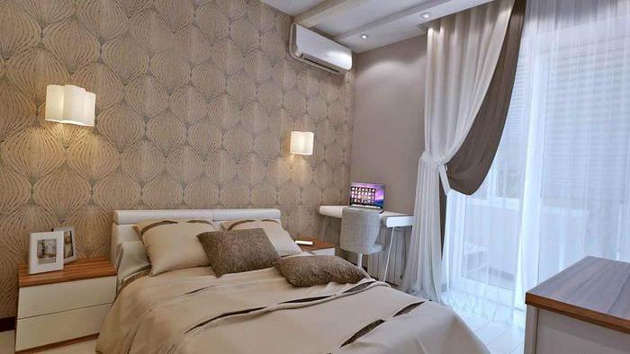 вариант светлого стиля комнаты 12 кв.м
