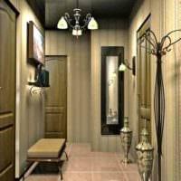 идея красивого стиля прихожей в частном доме фото