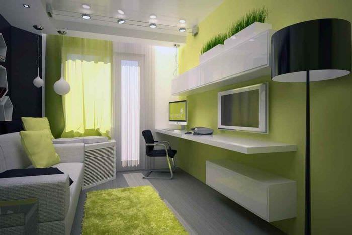 пример красивого дизайна комнаты 12 кв.м