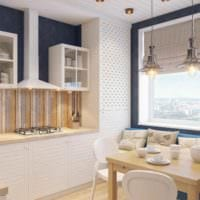 вариант необычного стиля кухни 7 кв.м картинка