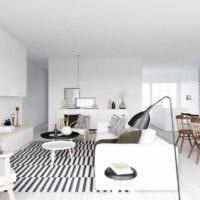 идея светлого декора комнаты в скандинавском стиле фото