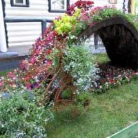 вариант яркого дизайна огорода на даче картинка