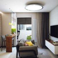 пример яркого интерьера гостиной 15 кв.м картинка