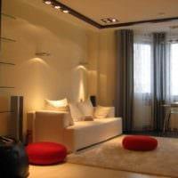 пример красивого дизайна гостиной спальни фото