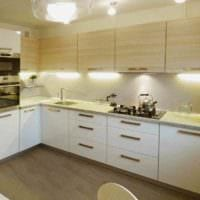 идея яркого стиля кухни 10 кв.м. серии п 44 фото