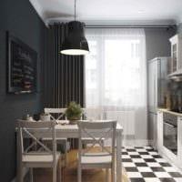 вариант необычного дизайна кухни 11 кв.м фото