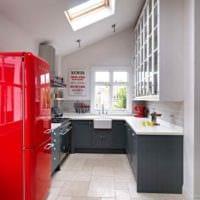 вариант яркого стиля кухни 7 кв.м картинка