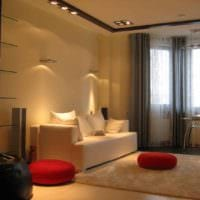 вариант красивого декора гостиной 15 кв.м фото