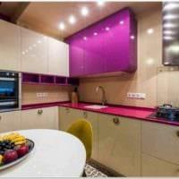 пример необычного интерьера кухни 10 кв.м. серии п 44 картинка