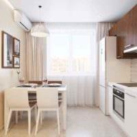 пример необычного стиля кухни 11 кв.м фото