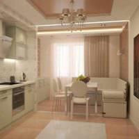 идея яркого декора кухни 11 кв.м картинка