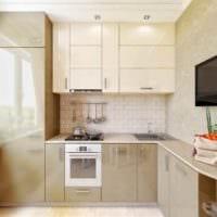 идея необычного интерьера кухни с газовой колонкой картинка