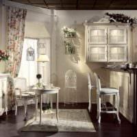 вариант яркого дизайна кухни в деревенском стиле фото