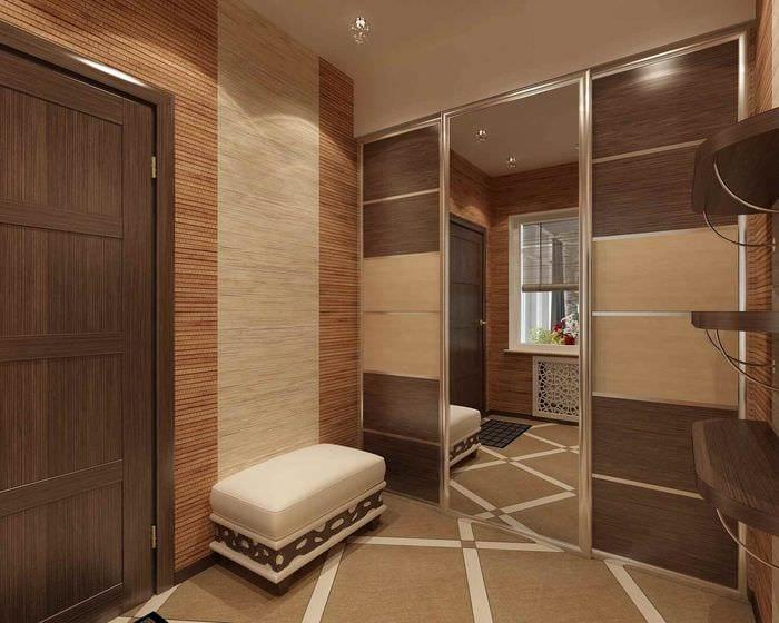 идея светлого стиля прихожей в частном доме