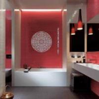 идея необычного дизайна укладки плитки в ванной комнате картинка