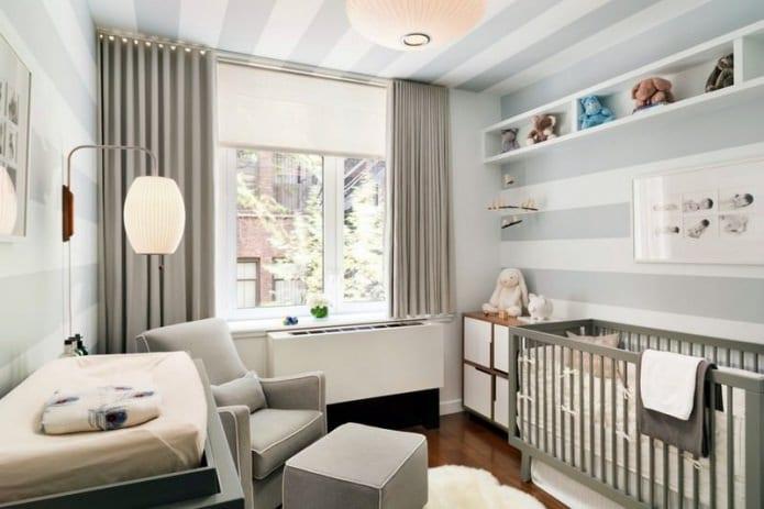 серые обои для детской комнаты