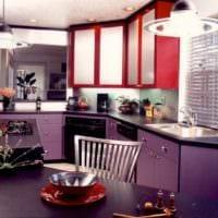 кухня 5 кв метров яркий гарнитур